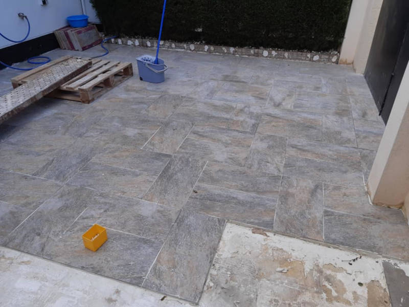 Driveway Tiling Project